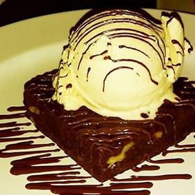 brownie con helado la fondue mexicana